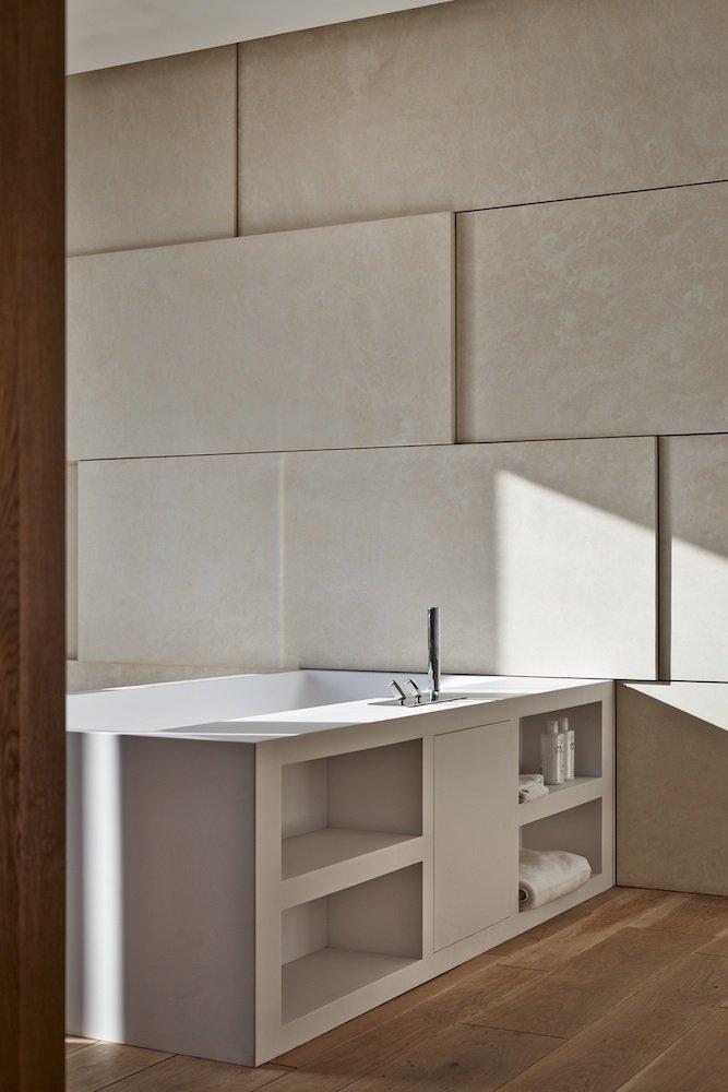 Bathroom, Riverside Apartment in Bratislava, Slovakia