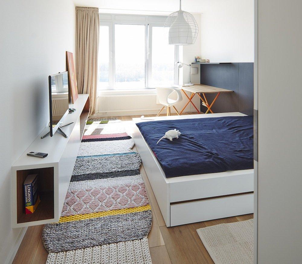 Bedroom, Riverside Apartment in Bratislava, Slovakia