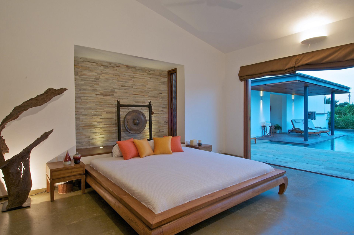 Bedroom, Art, Anish Amin House in Alibaug, India