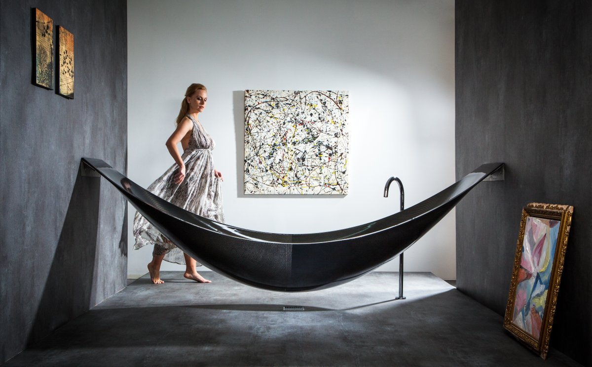 Suspended Carbon Fibre Bath: Vessel by Splinter Works