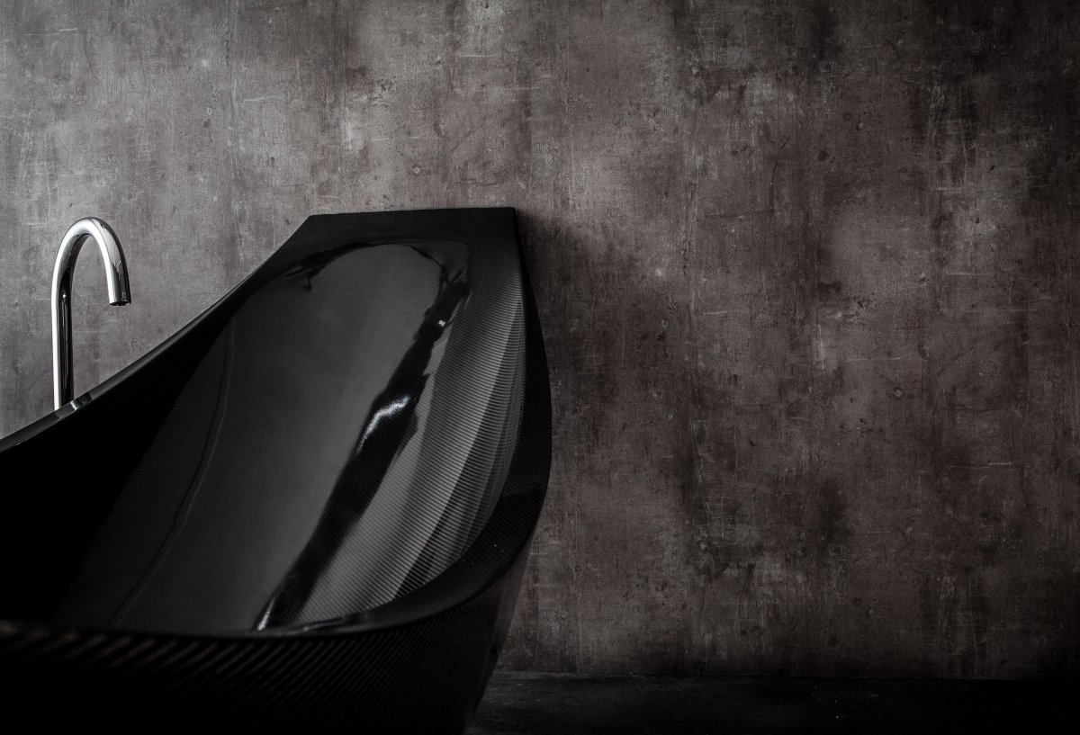 Suspended Carbon Fiber Bath: Vessel by Splinter Works