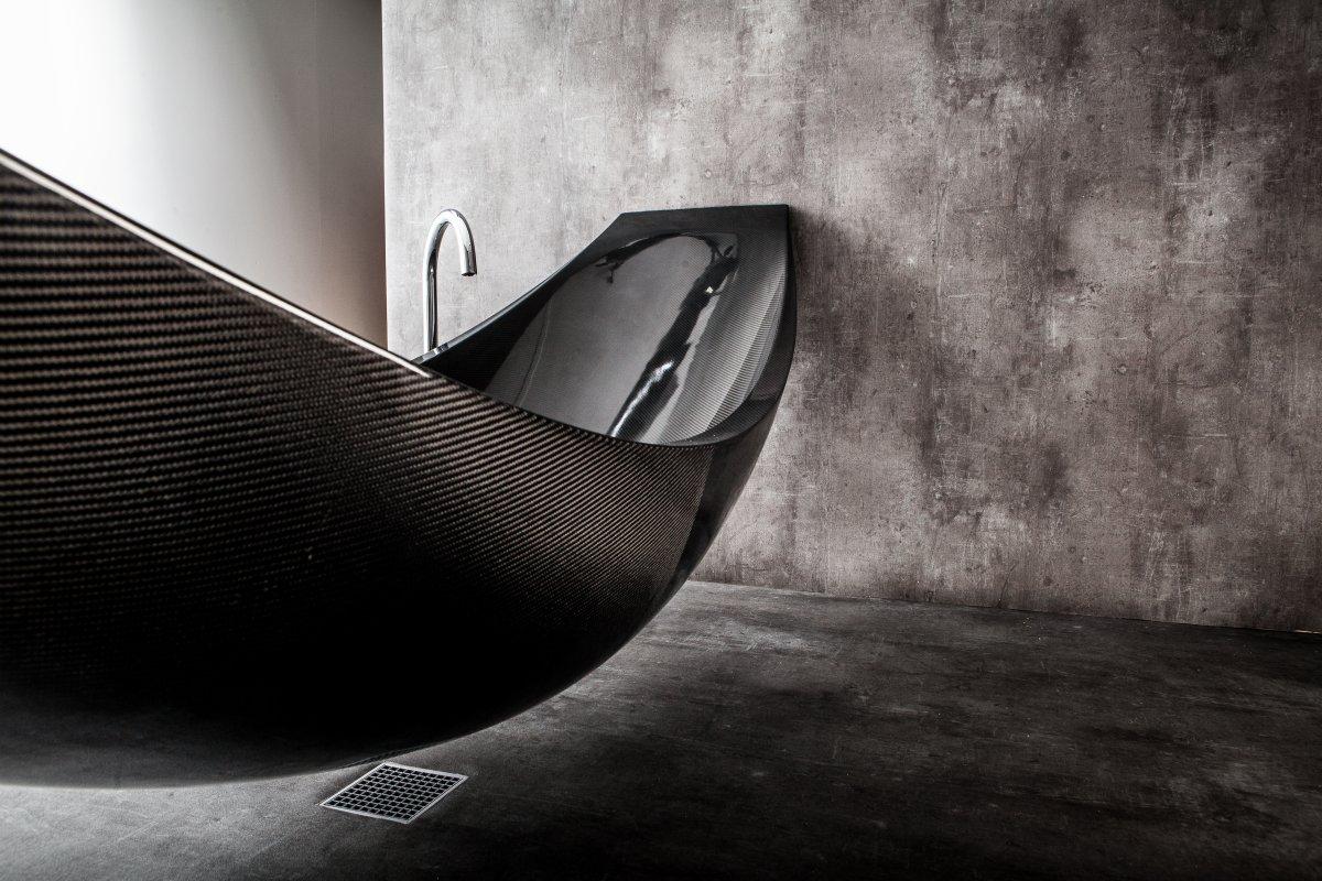 Suspended Carbon Fiber Bath: Vessel by Splinter Works