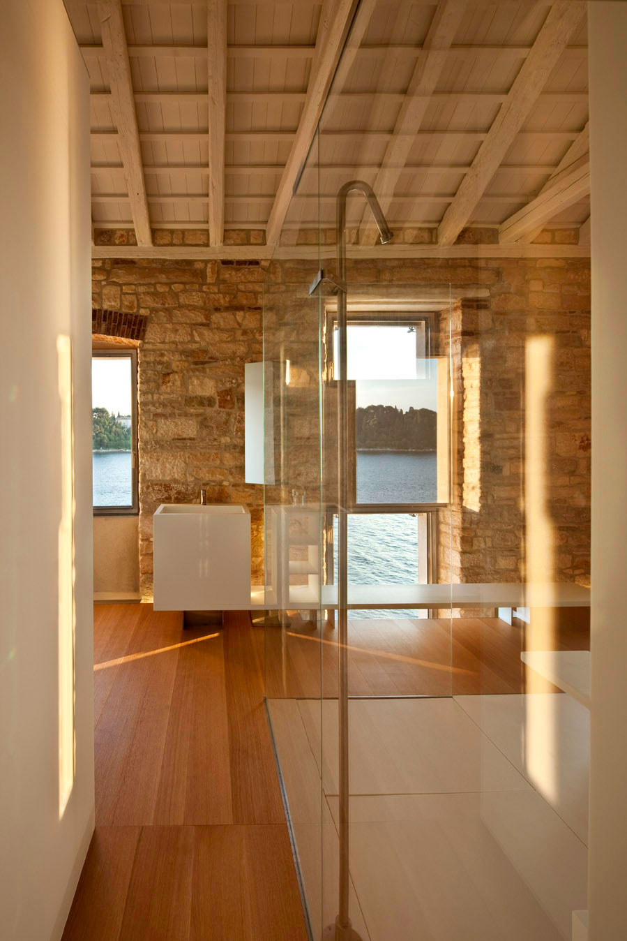 Contemporary Bathroom, Renovation of an 18th Century Building in Rovinj, Croatia