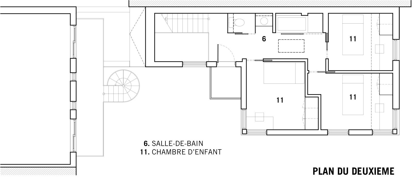 First Floor Plan, Contemporary Extension in Rosemont-Petite-Patrie, Canada