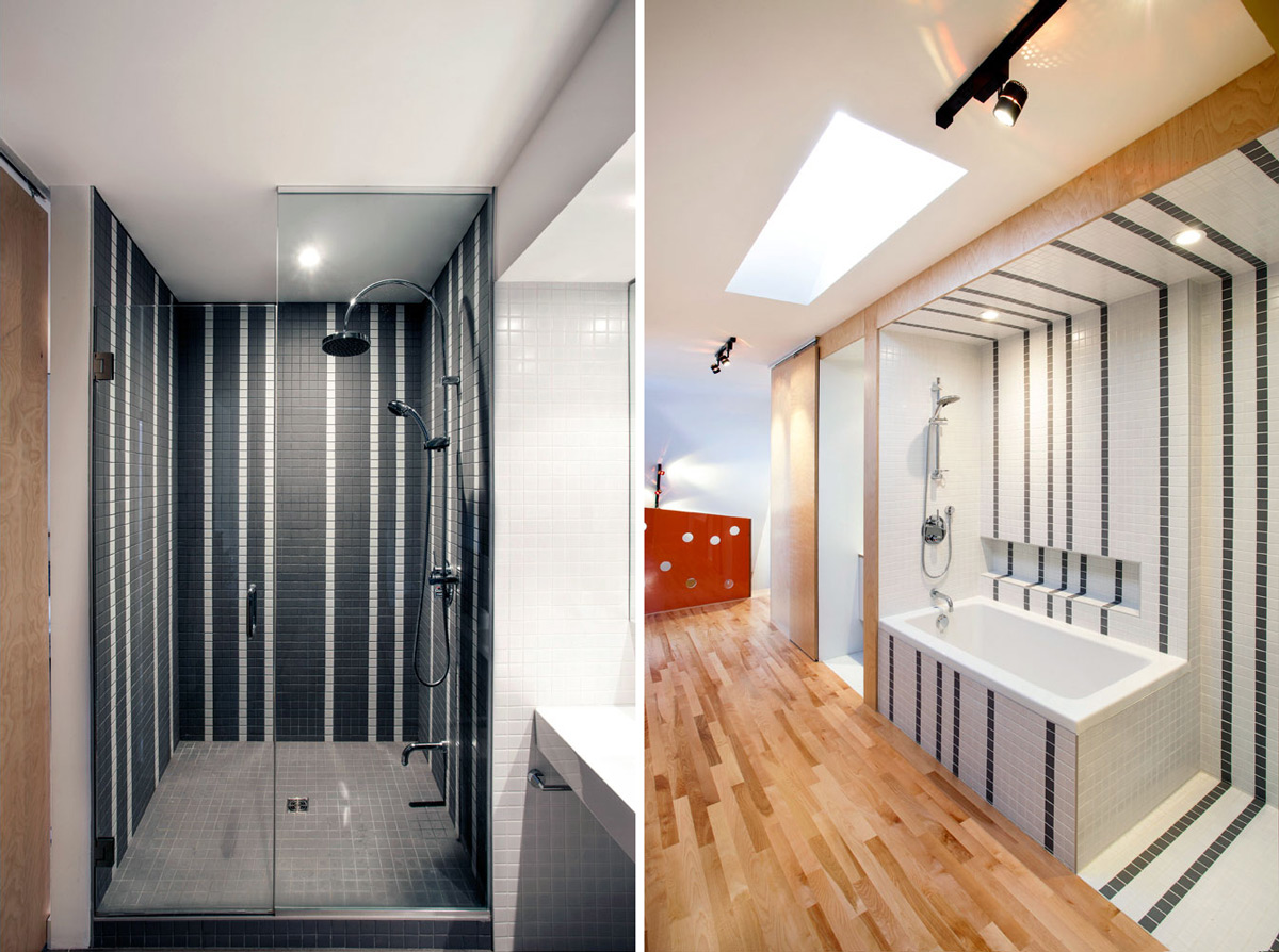 Open Bathroom, Contemporary Extension in Rosemont-Petite-Patrie, Canada