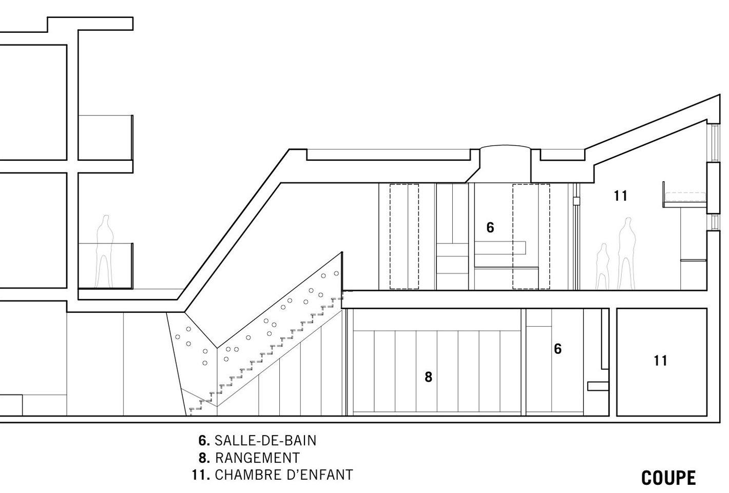 Section, Contemporary Extension in Rosemont-Petite-Patrie, Canada