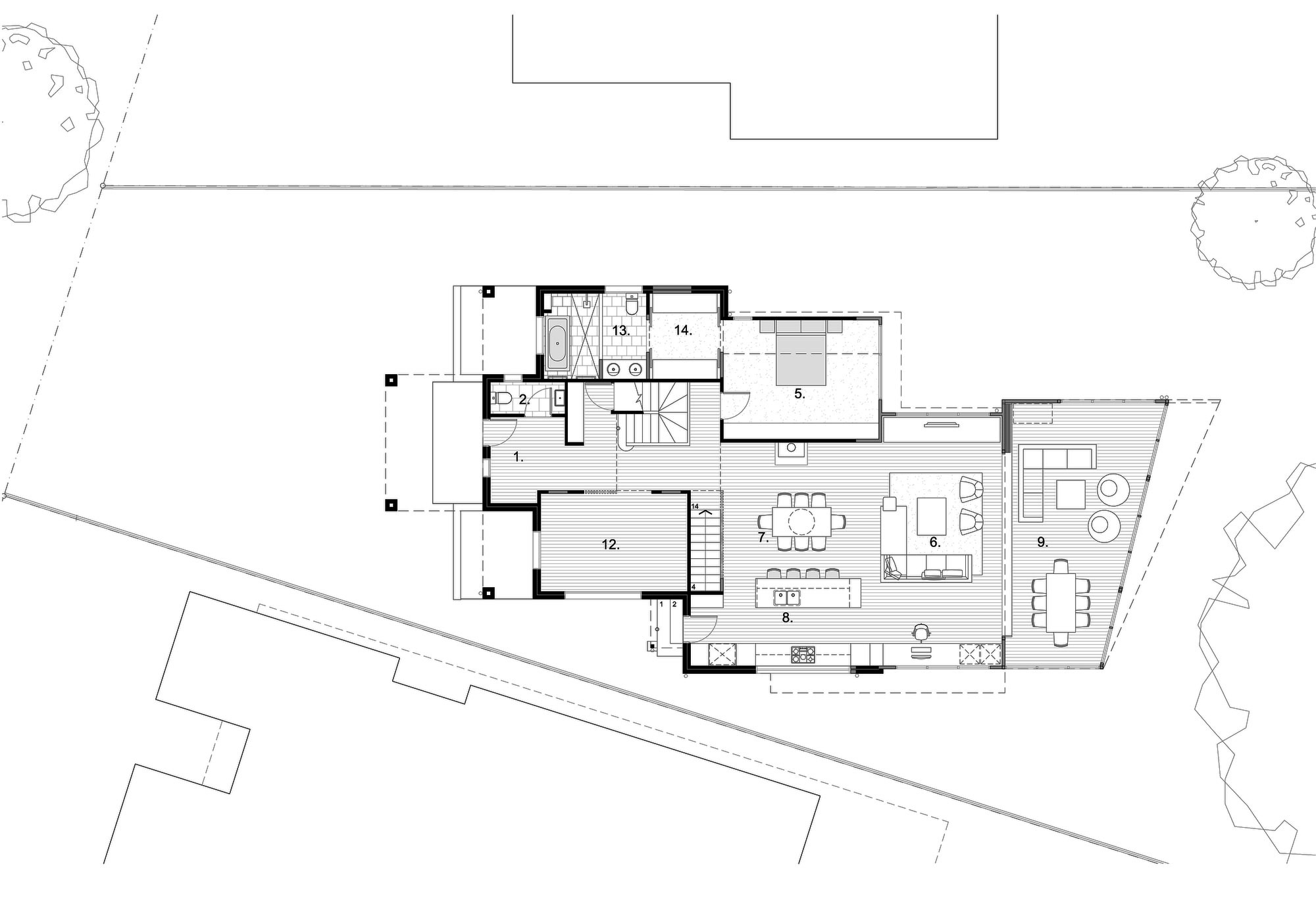 First Floor Plan, Renovation and Extension in Chelmer, Brisbane