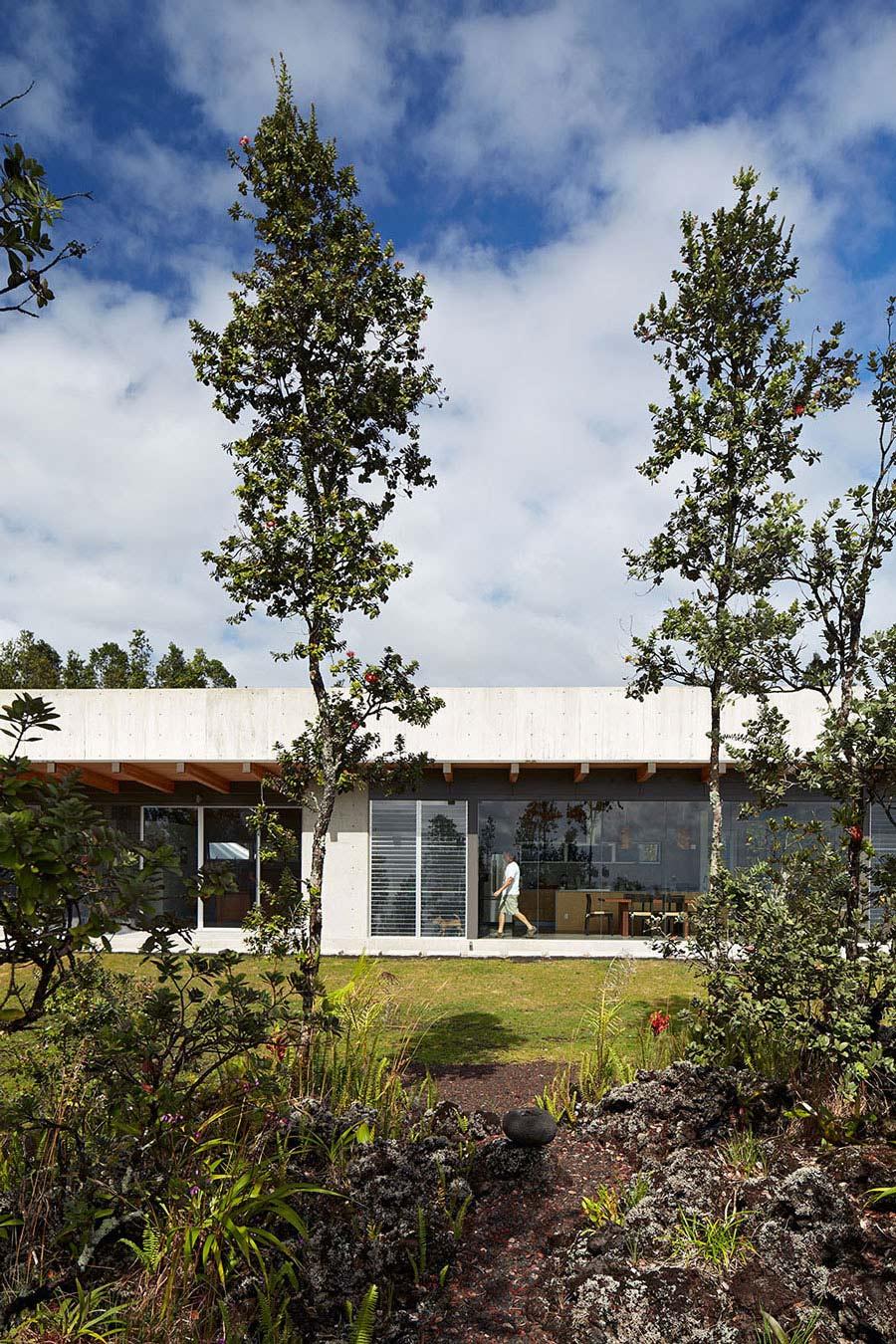 Garden, Contemporary Home in Pahoa, Hawaii