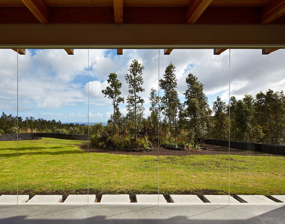 Glass Walls, Contemporary Home in Pahoa, Hawaii