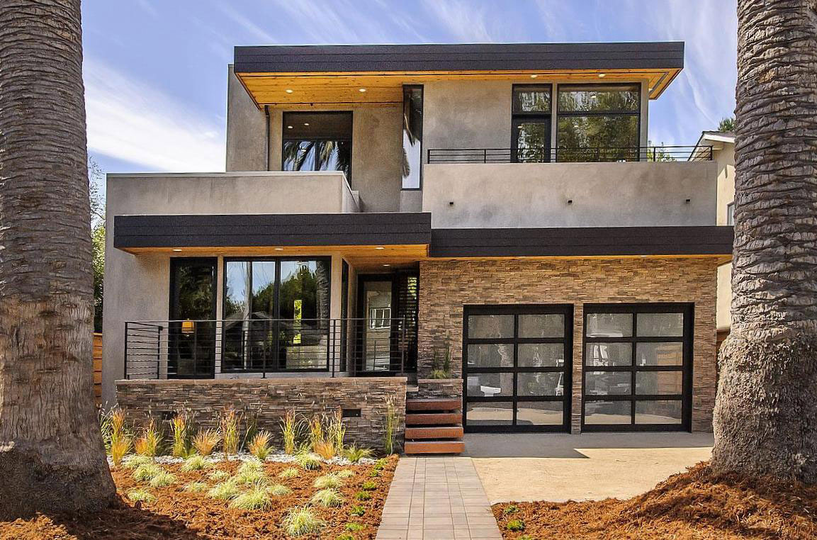 Entrance, Modern Home in Burlingame, California