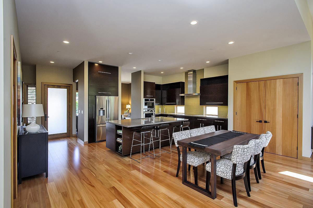 Kitchen, Dining Space, Modern Home in Burlingame, California