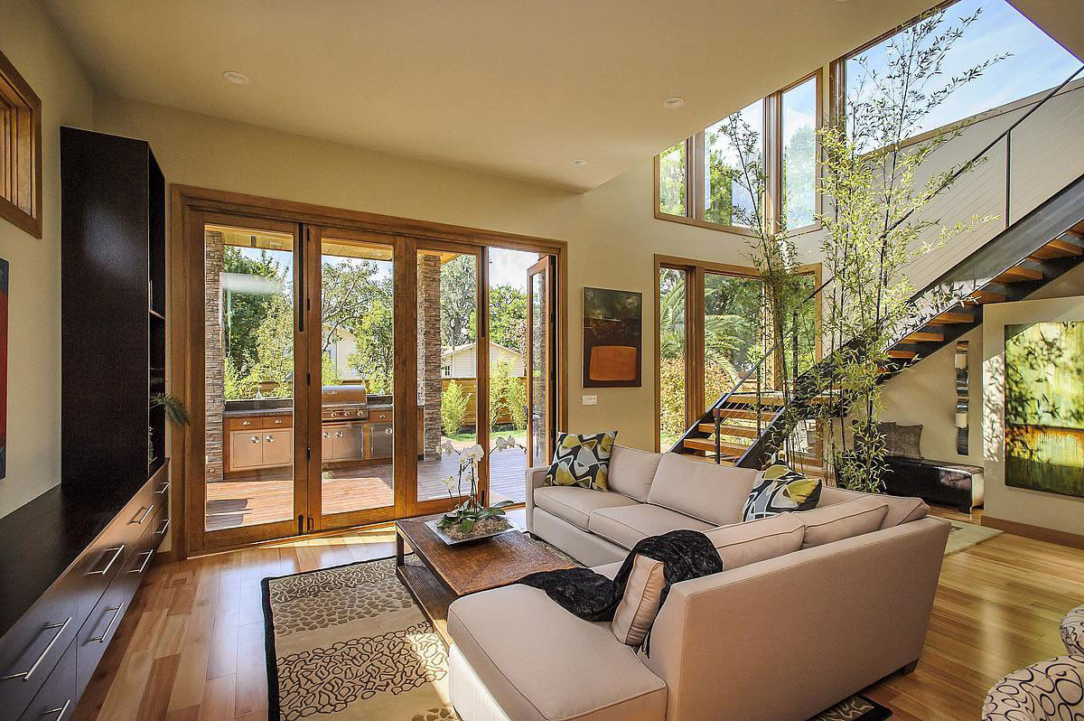 Living Space, Modern Home in Burlingame, California