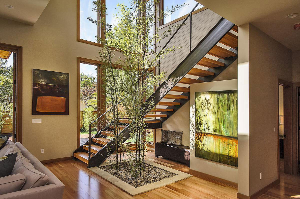 Stairs, Modern Home in Burlingame, California