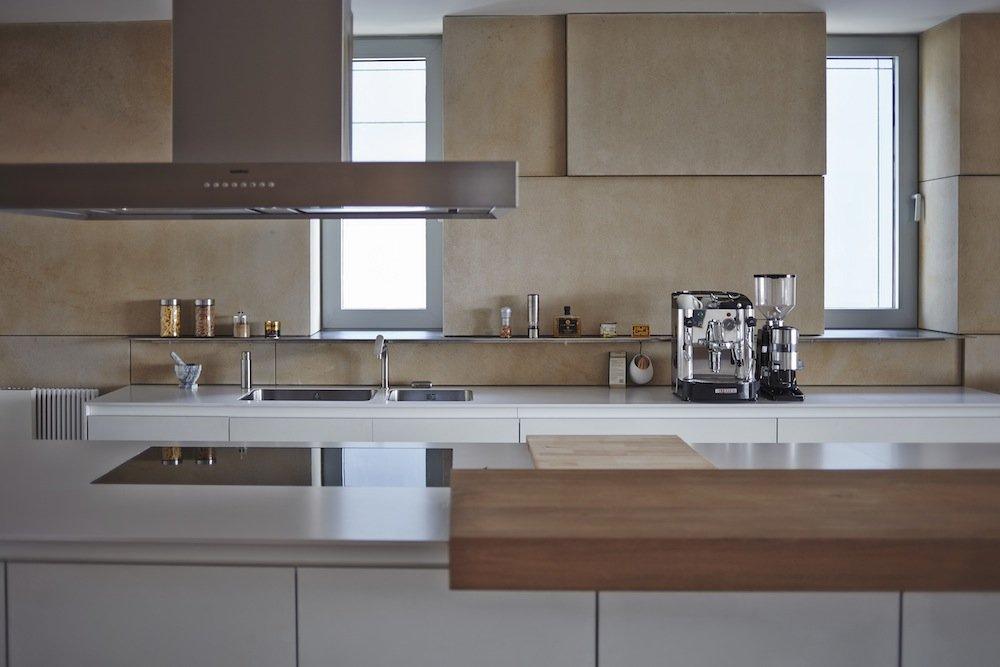 Kitchen, Riverside Apartment in Bratislava, Slovakia