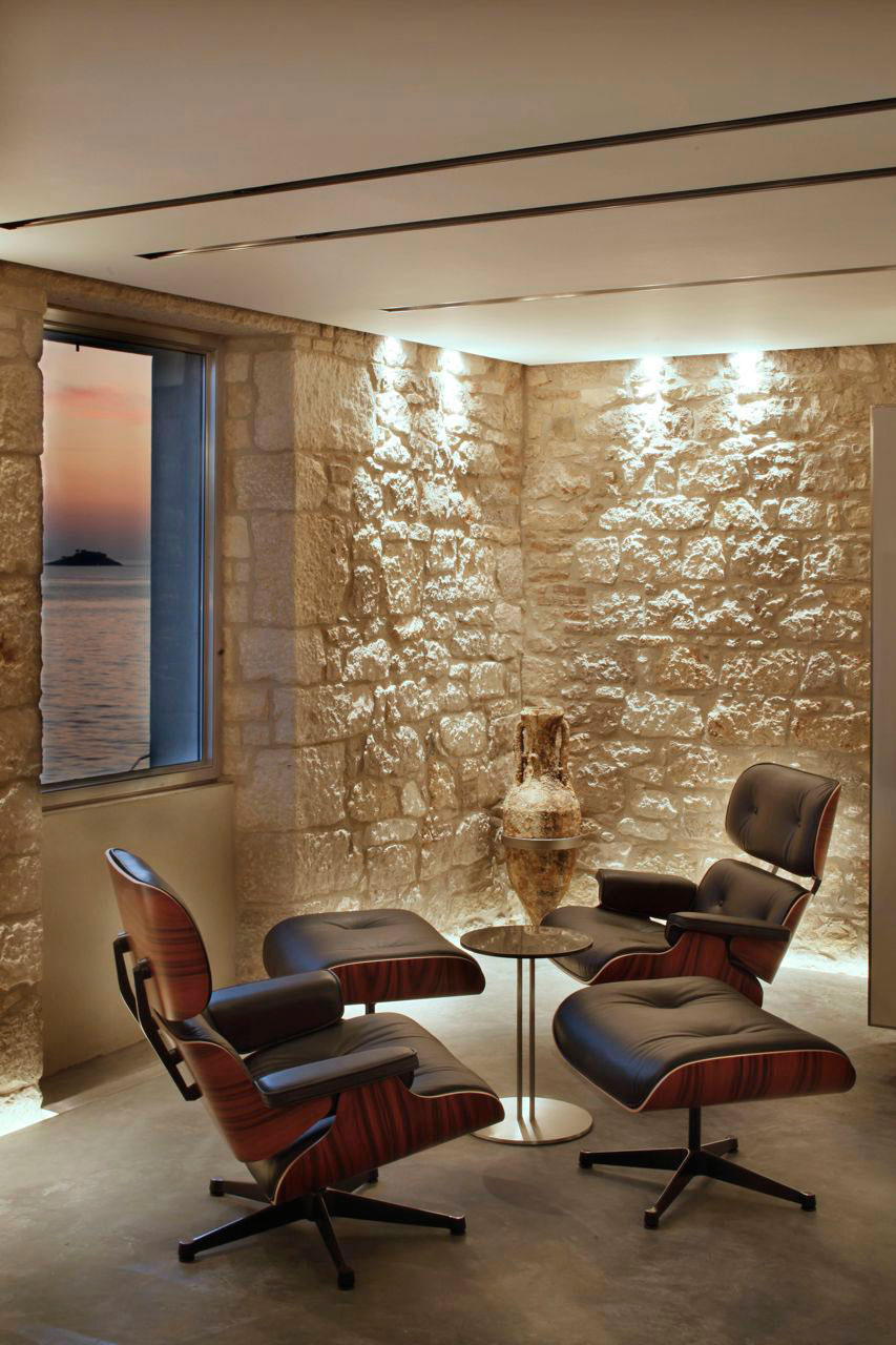 Lighting, Stone Walls, Renovation of an 18th Century Building in Rovinj, Croatia
