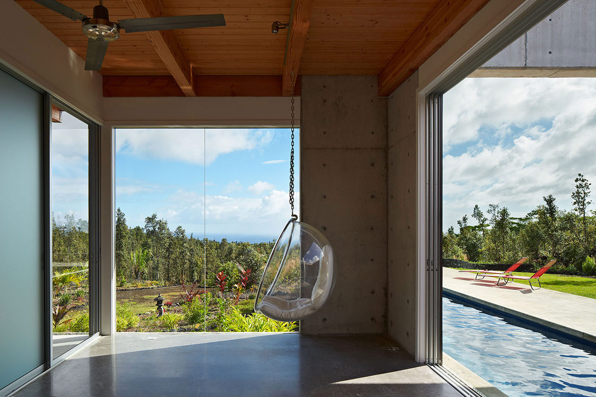 Living Space, Contemporary Home in Pahoa, Hawaii