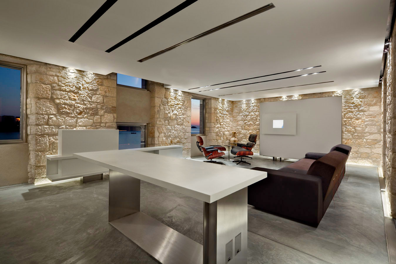 Living Space, Lighting, Renovation of an 18th Century Building in Rovinj, Croatia