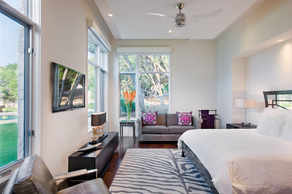 Bedroom, Gorgeous Modern Home in Austin, Texas