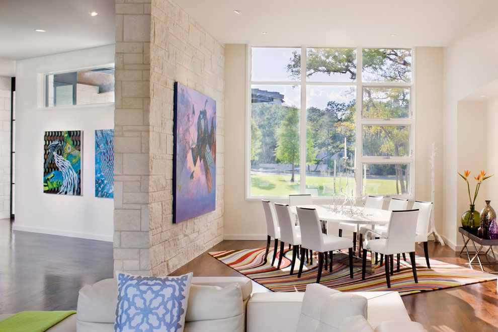 Dining Room, Gorgeous Modern Home in Austin, Texas