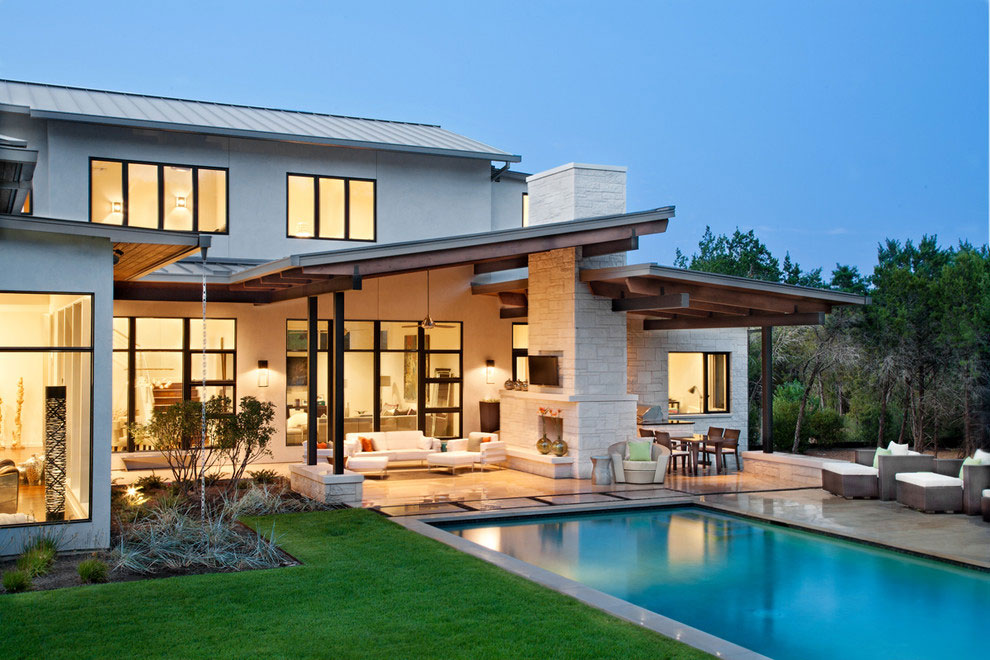 Pool, Terrace, Gorgeous Modern Home in Austin, Texas
