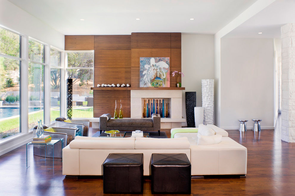 Sofa, Living Room, Gorgeous Modern Home in Austin, Texas
