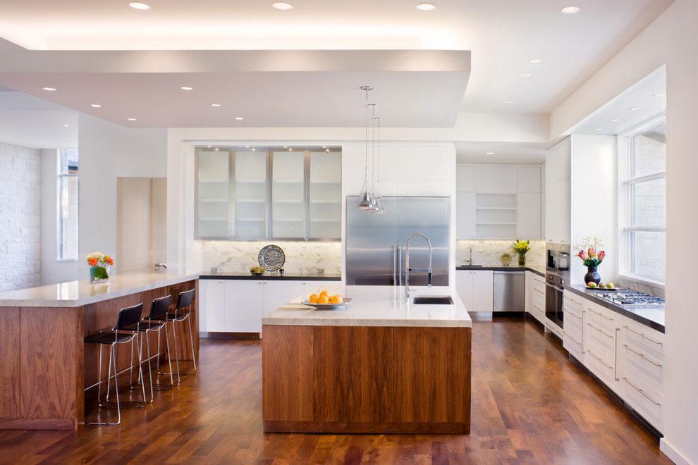 Wood Flooring, Kitchen, Gorgeous Modern Home in Austin, Texas