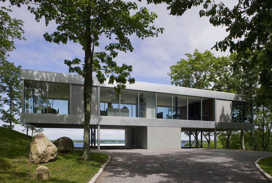 Glass & Steel Construction, Elegant Glass and Steel Retreat on Shelter Island, New York