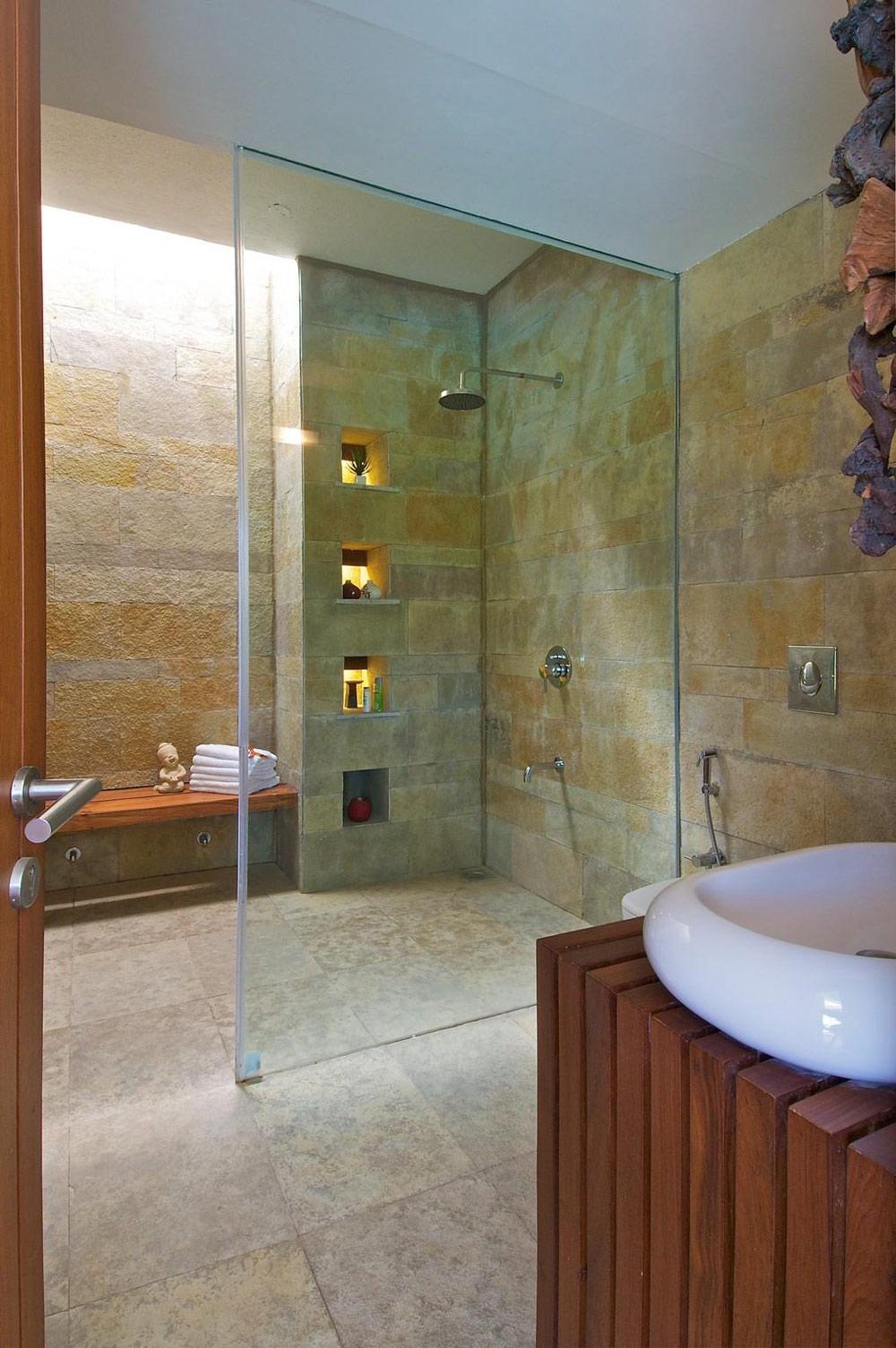 Shower, Glass Screen, Anish Amin House in Alibaug, India