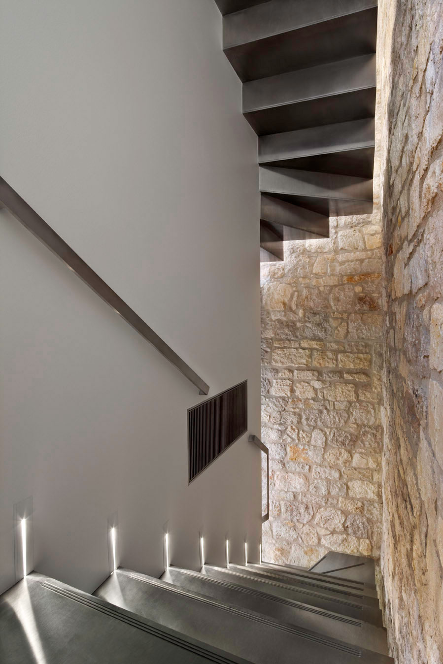 Staircase Lighting, Renovation of an 18th Century Building in Rovinj, Croatia