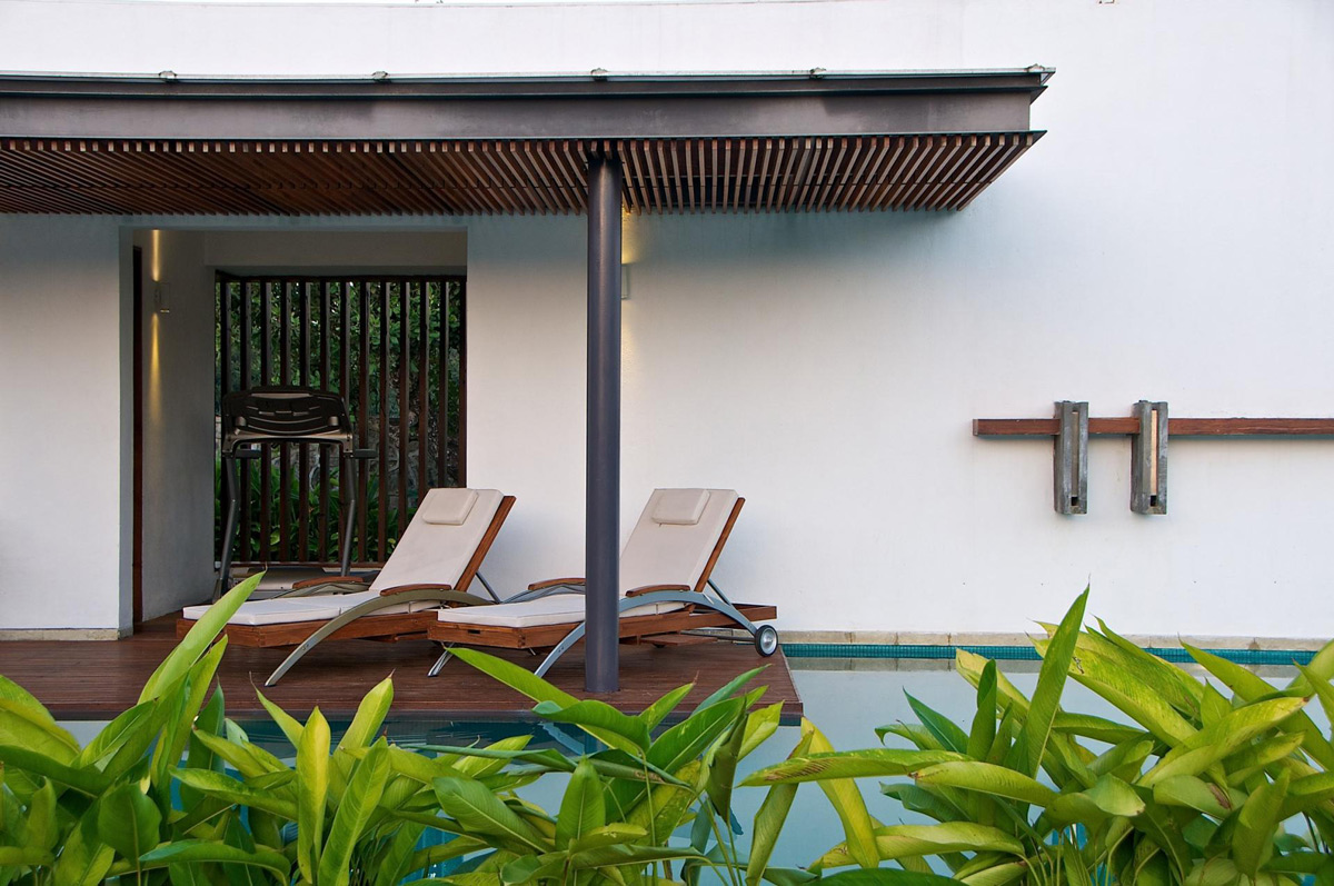 Terrace, Pool, Veranda, Anish Amin House in Alibaug, India