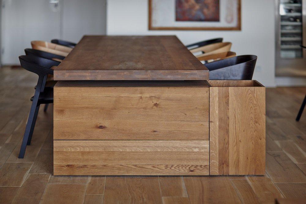 Wooden Dining Table, Riverside Apartment in Bratislava, Slovakia