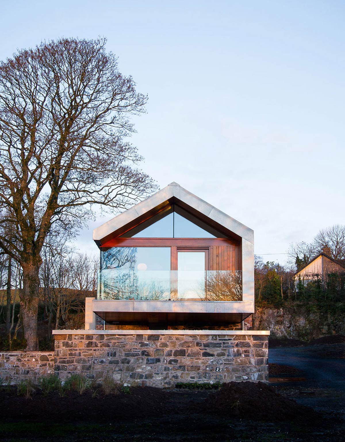 Barn conversion in broughshane northern ireland for Modern house design northern ireland