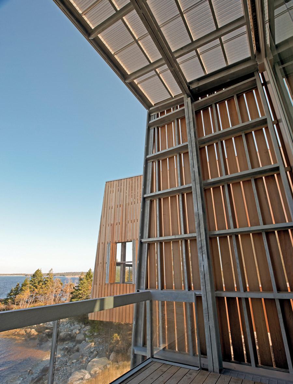 Balcony, Glass Balustrading, Home in Port Mouton, Nova Scotia