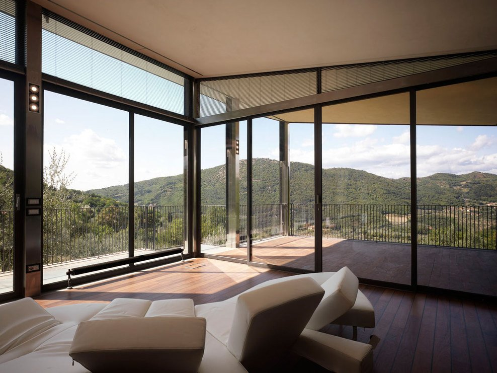 Balcony, Living Space, Modern Home in Prato, Italy