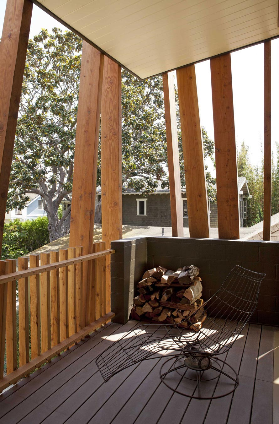 Balcony, Wood Store, Wonderful Renovation and Addition in Venice, California