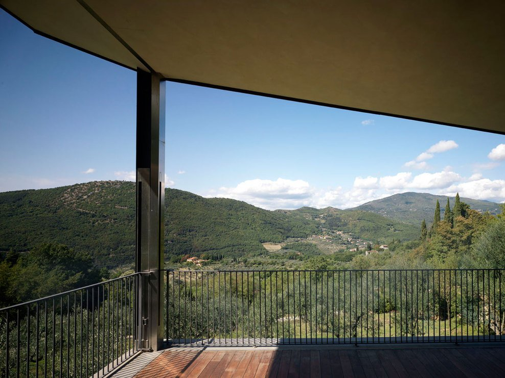 Balcony, Valley Views, Modern Home in Prato, Italy