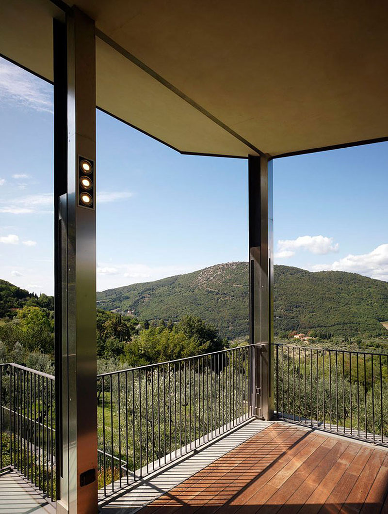 Balcony Views, Modern Home in Prato, Italy