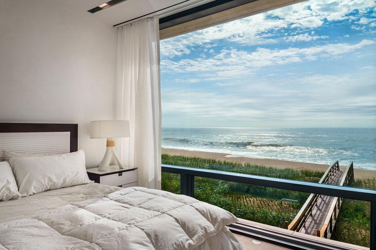 Bedroom, Ocean Views, Oceanfront Home in Sagaponack, New York