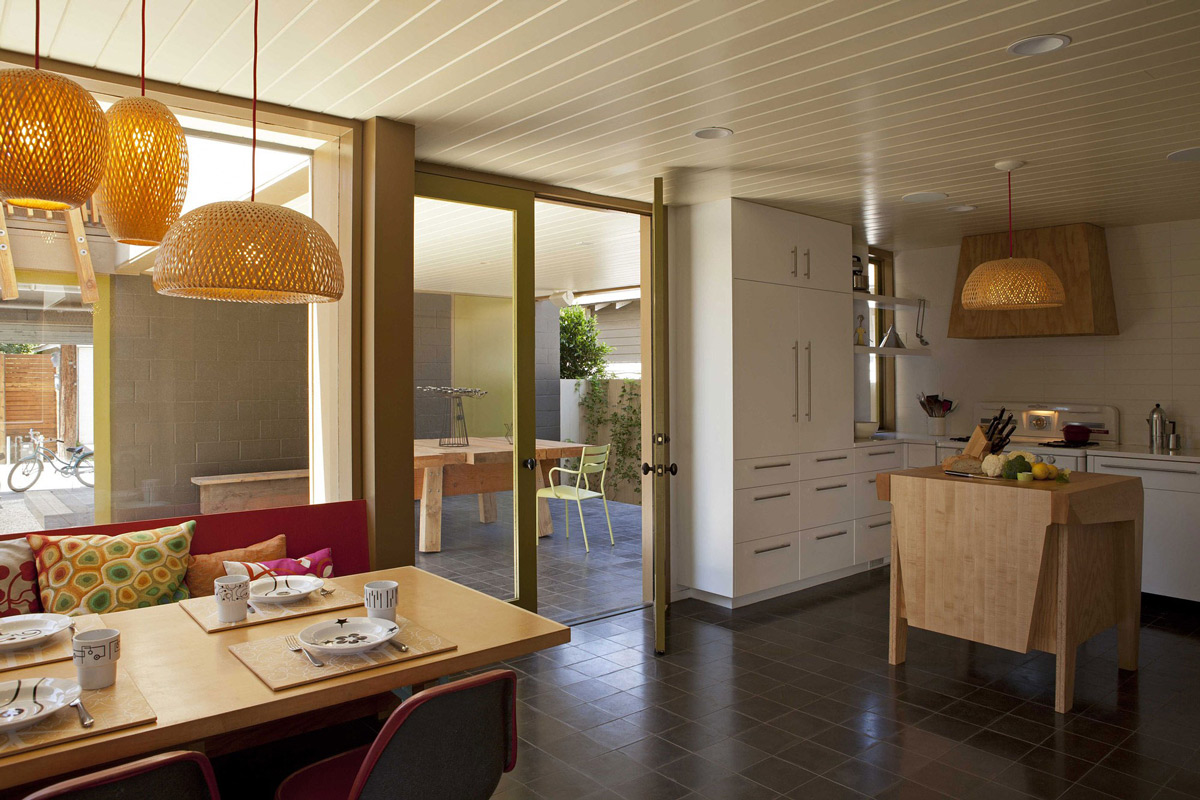 Breakfast Table, Kitchen, Wonderful Renovation and Addition in Venice, California