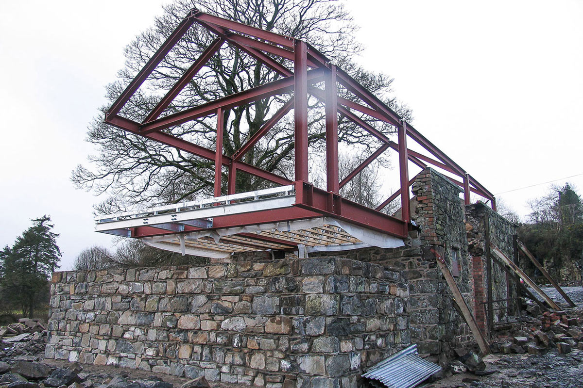 Cantilever Construction, Barn Conversion in Broughshane, Northern Ireland