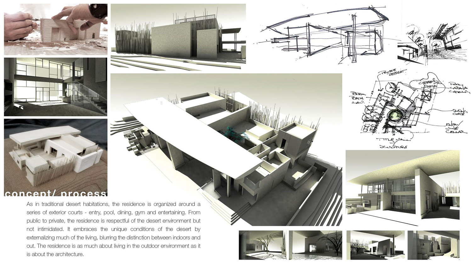 Concept / Process Diagram, Massive Modern Home in Las Vegas