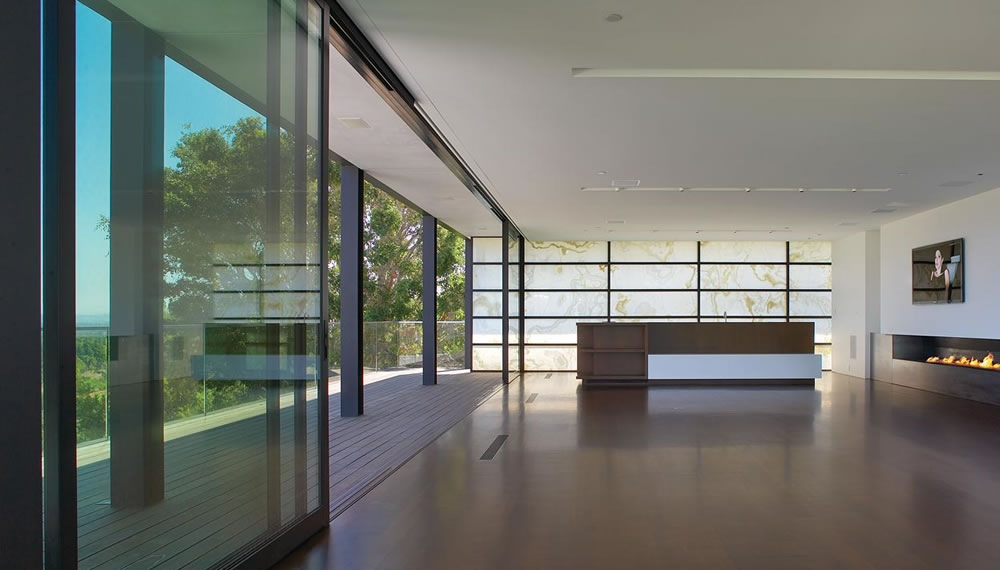 Contemporary Fireplace, Living Space, Balcony, Remodel and Addition in Orange County, California