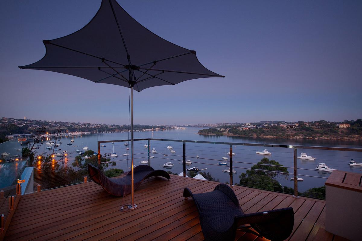 Deck, River Views, Stunning Riverside Home in Perth, Australia