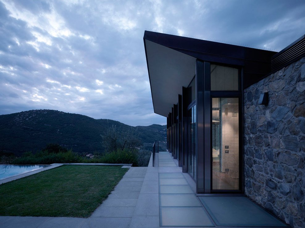 Evening, Terrace, Views, Modern Home in Prato, Italy