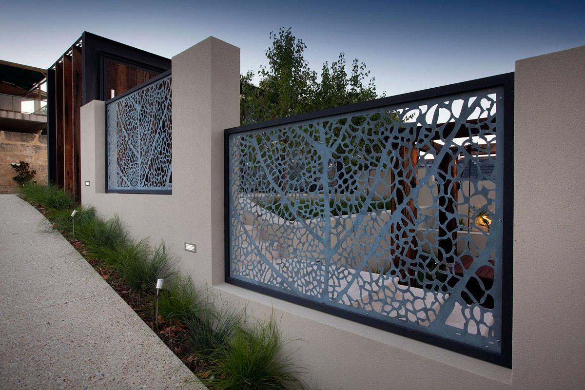 Fence, Stunning Riverside Home in Perth, Australia