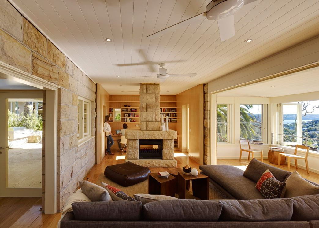 Fireplace, Living Space, Extension and Addition in Palm Beach, Sydney