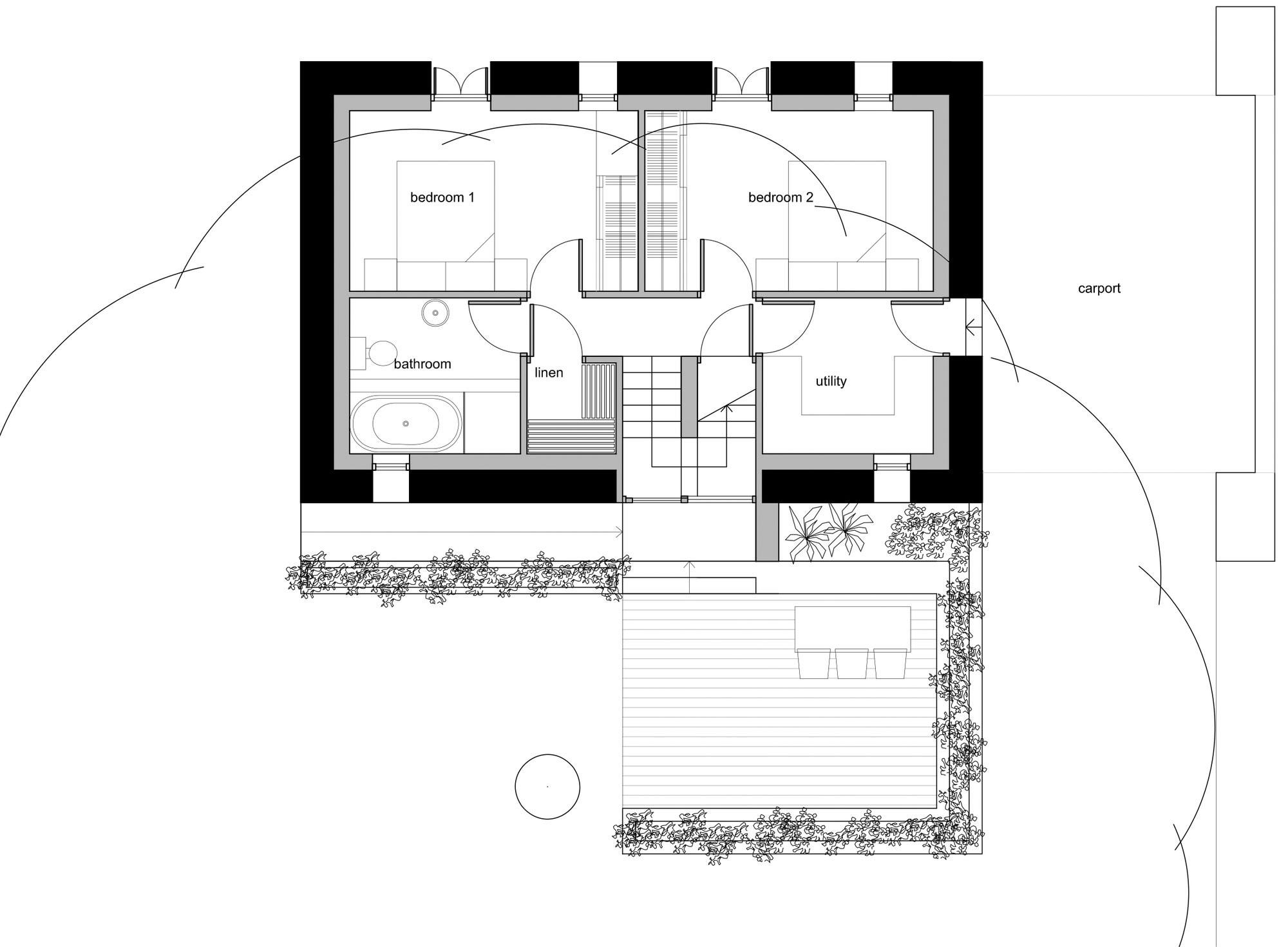 First Floor Plan, Barn Conversion in Broughshane, Northern Ireland