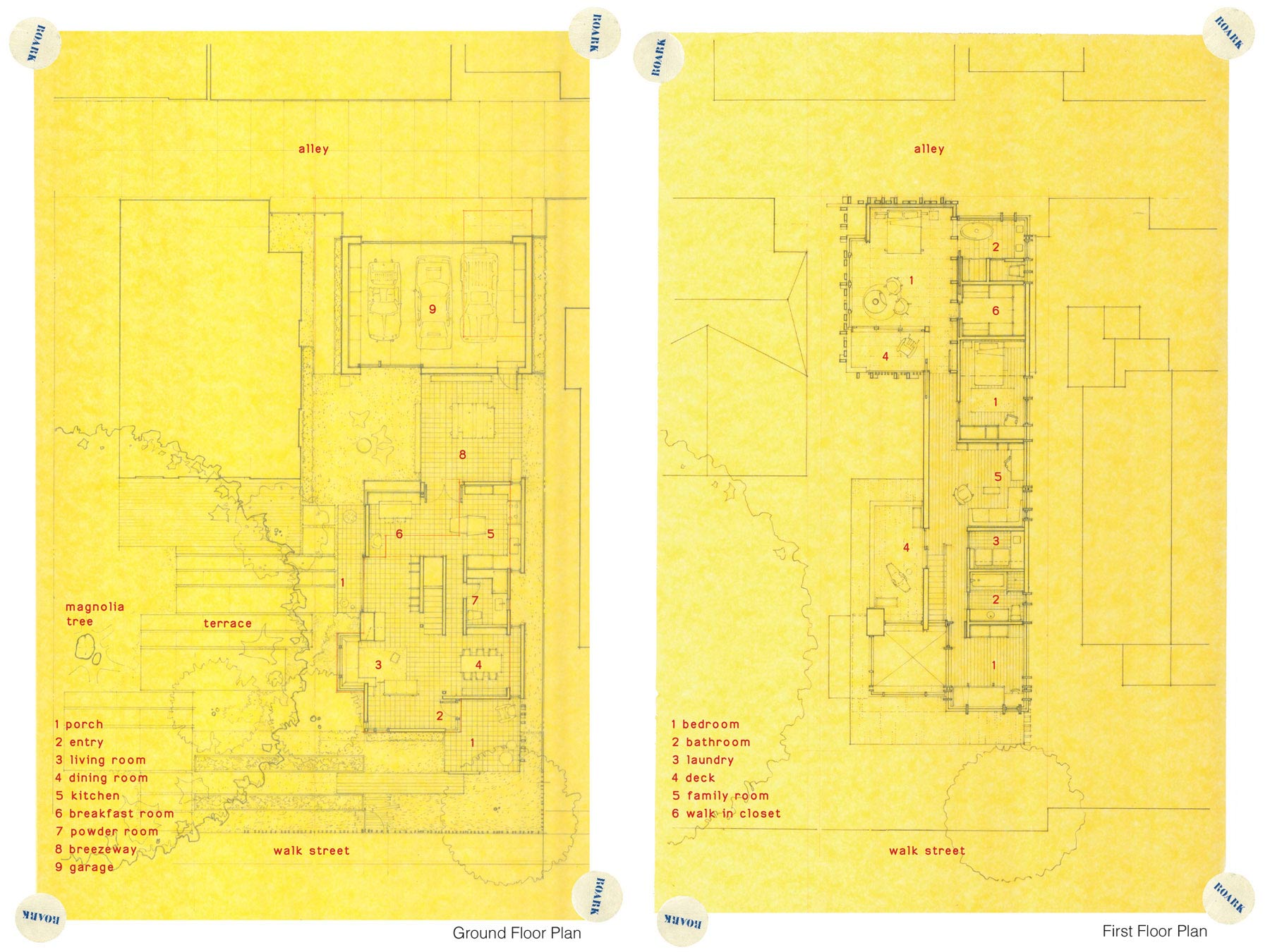 First Floor Plan, Wonderful Renovation and Addition in Venice, California