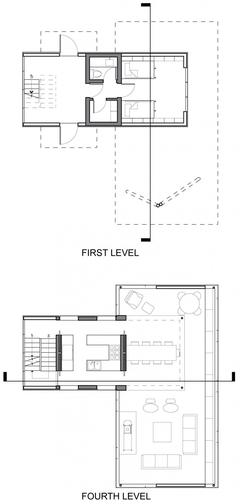 First & Forth Floor Plans, Unique Treetop Home in Upstate New York