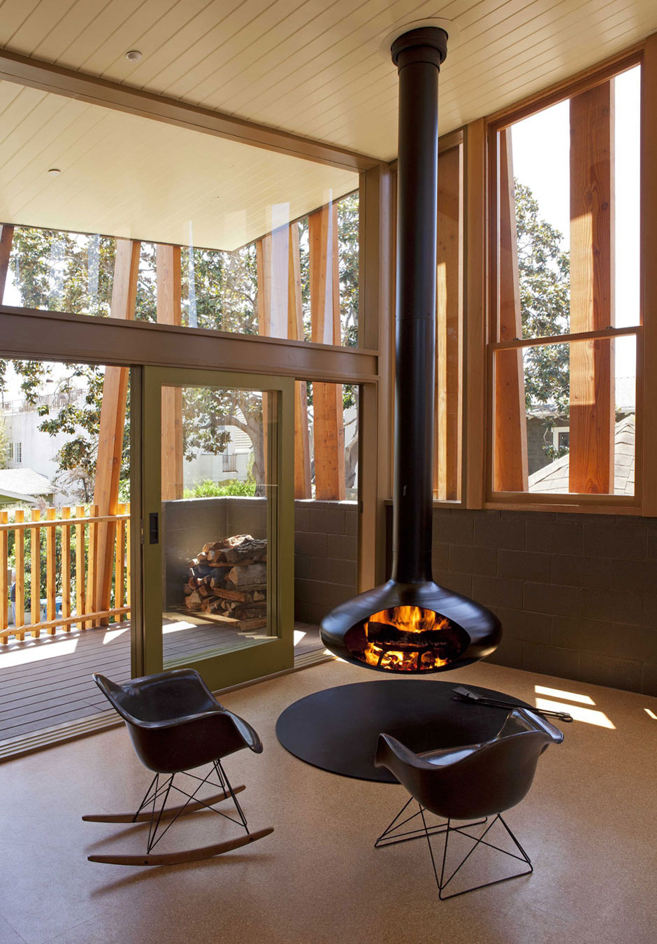 Floating Fireplace, Balcony, Patio Doors, Wonderful Renovation and Addition in Venice, California